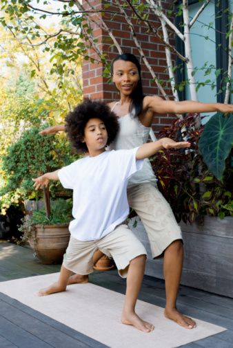 Kids and Parents Exercising Together